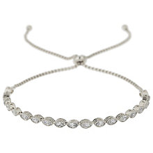 Mikey Silver Tone Crystal Circle Cap Bracelet - Product number 5715628