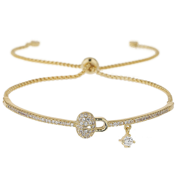 Mikey Gold Tone Crystal Lock Bracelet - Product number 5715636