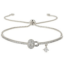 Mikey Silver Tone Crystal Lock Bracelet - Product number 5715644