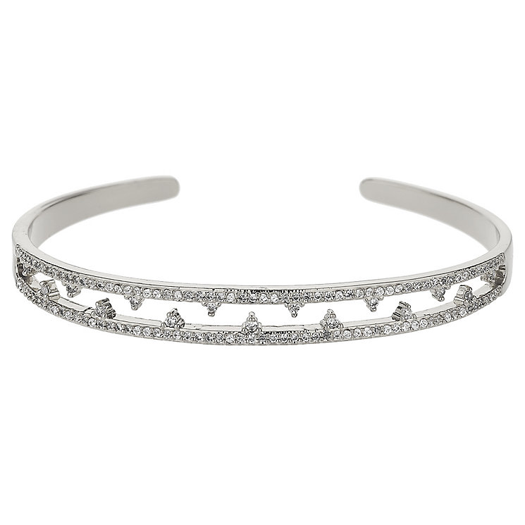 Mikey Silver Tone Crystal Bangle - Product number 5715687