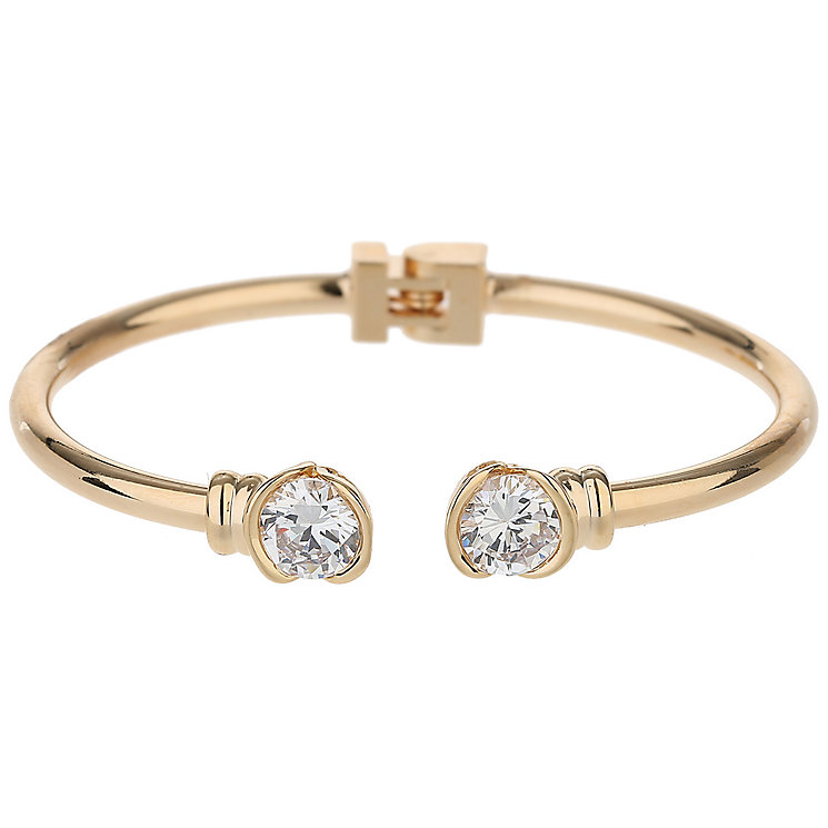 Mikey Gold Tone Crystal Hinged Bangle - Product number 5715717