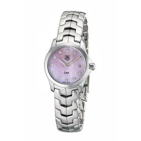 TAG Heuer Mini Link ladies' pink mother of pearl watch