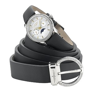 Rotary ladies' moonphase watch with  leather belt set - Product number 5717663