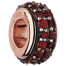 Links of London 18ct Rose Gold Vermeil Garnet Pave Bead - Product number 5718309