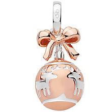 Links of London Rose Gold Vermeil Christmas Bauble Charm - Product number 5718457