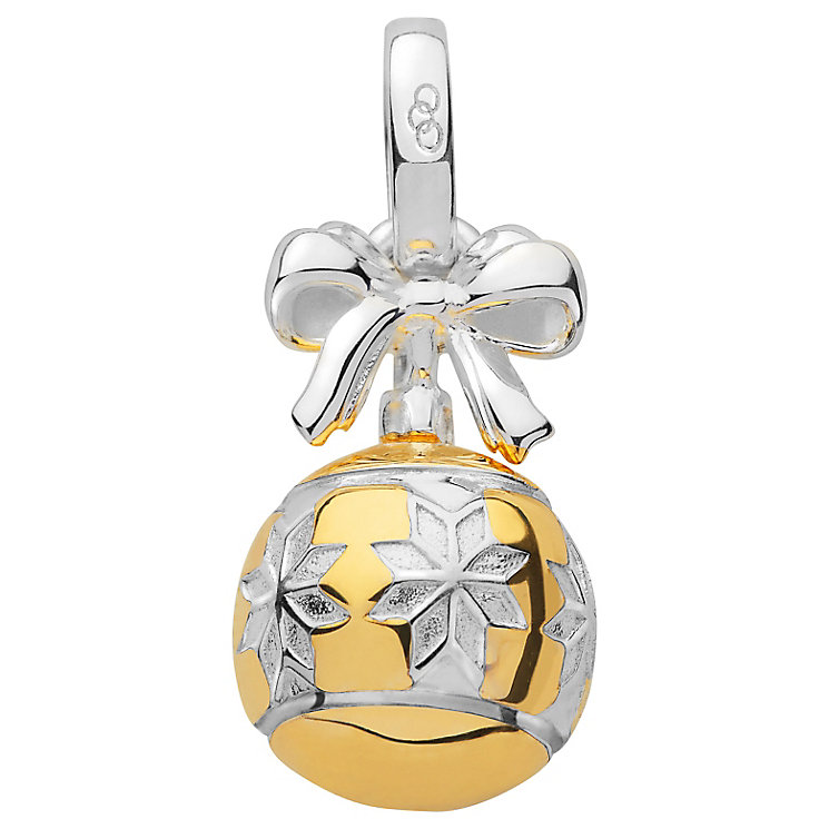 Links of London Yellow Gold Vermeil Christmas Bauble Charm - Product number 5718481