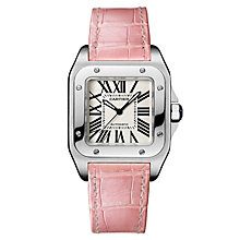 Cartier Santos 100 Ladies' Stainless Steel Strap Watch - Product number 5724279