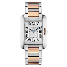 Cartier Tank Anglais Men's Two Colour Bracelet Watch - Product number 5724317