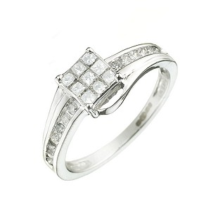 18ct White Gold 1/2ct Princessa Diamond Ring - Product number 5732816