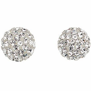 9ct gold crystal stud earrings - Product number 5733553