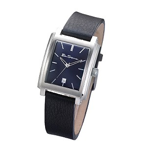 Men` Black Strap Watch
