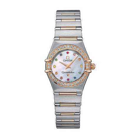Omega Constellation ladies' two-colour gold watch