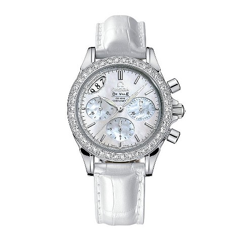 Omega De Ville  ladies chronograph diamond-set watch