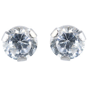 White Gold Cubic Zirconia Stud Earrings - Product number 5736692
