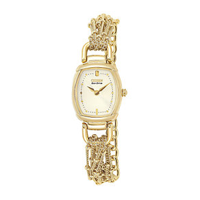 Citizen Ladies' Gold-Plated Eco Drive Watch - Product number 5740673