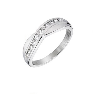 Platinum 1/3 Carat Diamond Eternity Ring