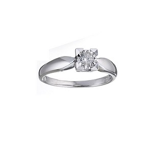 9ct White Gold 0.15pt Diamond Solitaire Ring - Product number 5744024