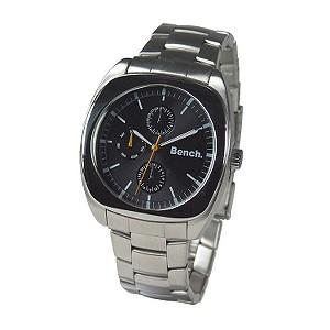Men` Black Round Multi-dial Bracelet Watch