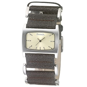 Ladies`Yellow Dial and Brown Leather Strap Watch