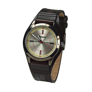 Ladies`Brown Leather Cuff Watch