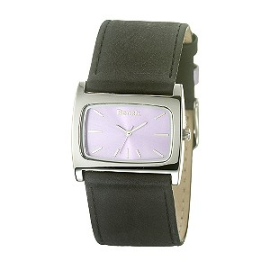 Ladies`Lilac Dial Brown Leather Strap