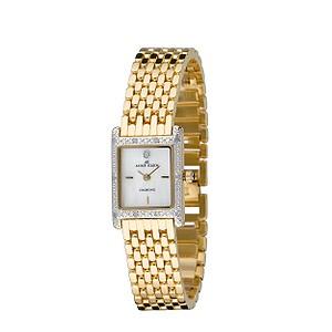 Anne Klein Women's 10-7604CHRM Swarovski Crystal Gold-Tone Charm