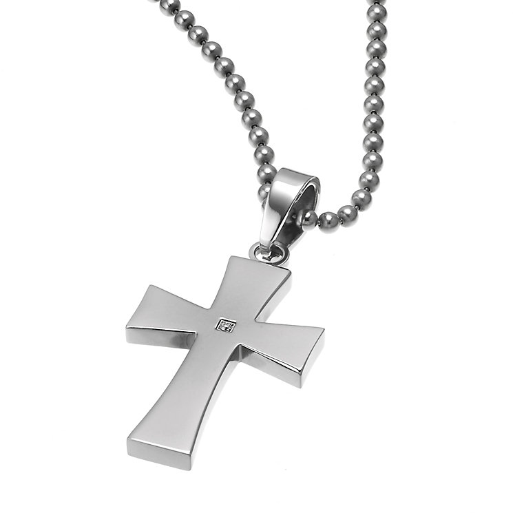 Titanium diamond set cross - Product number 5761506