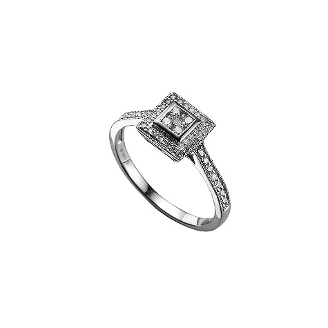 18ct white gold quarter carat diamond ring