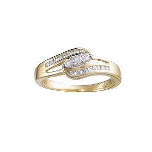 18ct gold quarter carat diamond ring - Product number 5767202