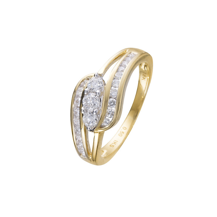 18ct gold half carat diamond ring - Product number 5767474