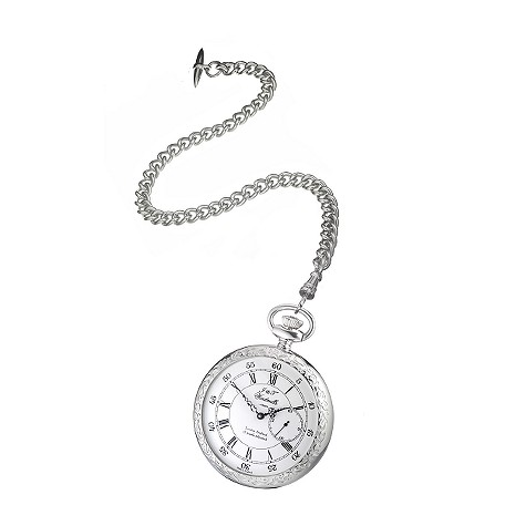 J & T Windmills Milton men's sterling silver pocket watch