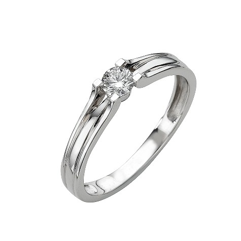 18ct white gold fifth carat diamond solitaire ring