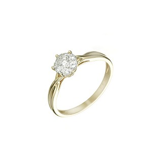 18ct two-colour gold 1/4ct diamond ring - Product number 5779545