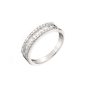 18ct white gold half carat diamond ring - Product number 5785588