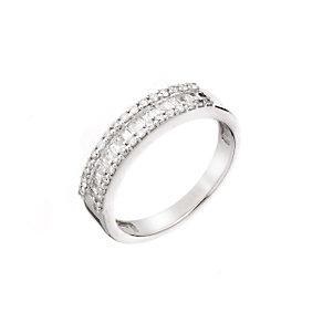18ct white gold half carat diamond ring - Product number 5785588