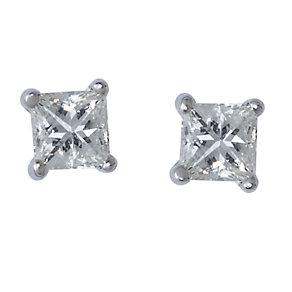 18ct white gold quarter carat Leo Diamond earrings - Product number 5788609
