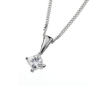 18ct white gold quarter carat Leo Diamond pendant - Product number 5788625