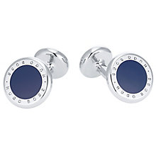 Hugo Boss Tobin Men's Stainless Steel Round Blue Cufflinks - Product number 5820286