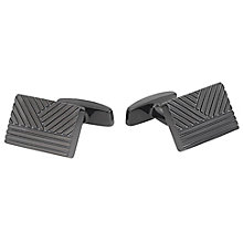 Hugo Boss Kai Men's Stainless Steel Black Edge Cufflinks - Product number 5820324