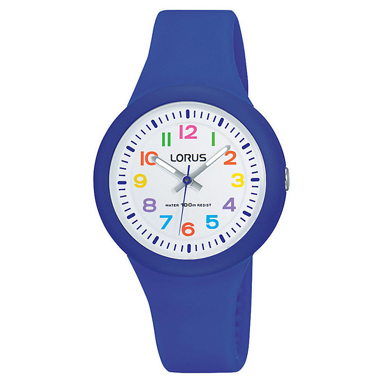 Lorus Children's White Dial Blue Silicone Strap Watch - Product number 5820898