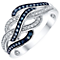 Silver Treated Blue and White 0.25ct Diamond Ring - Product number 5821274