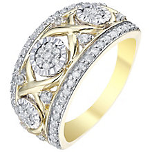 9ct Gold 1/2 Carat Diamond Wide Eternity Ring - Product number 5828988