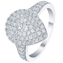 18ct White gold 1ct Triple Halo Ring - Product number 5833043