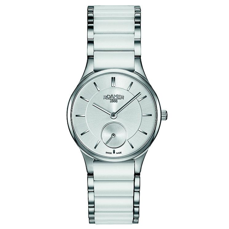 Roamer Ladies' White Ceramic & Steel Bracelet Watch - Product number 5836220