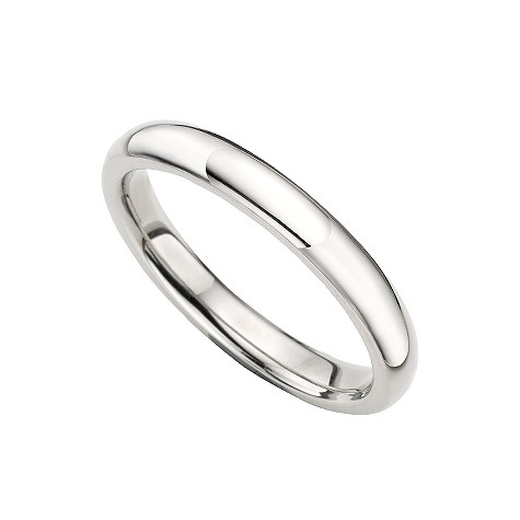 Palladium super heavy 3mm court wedding ring