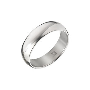 Palladium 950 6mm super heavy court ring - Product number 5837014