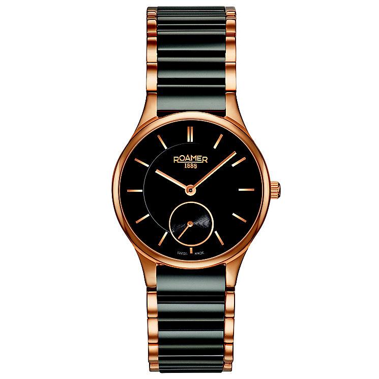 Roamer Ladies' Black Ceramic & Gold-Plated Bracelet Watch - Product number 5837189