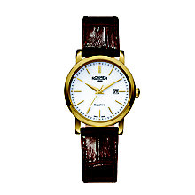 Roamer Ladies' White Dial Black Leather Strap Watch - Product number 5837235