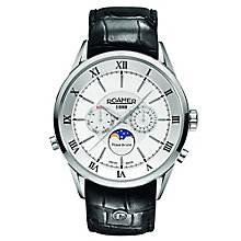 Roamer Men's Silver Dial Black Leather Strap Watch - Product number 5837286