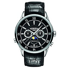 Roamer Men's Black Dial Black Leather Strap Watch - Product number 5837294